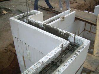 заливка блоков бетоном