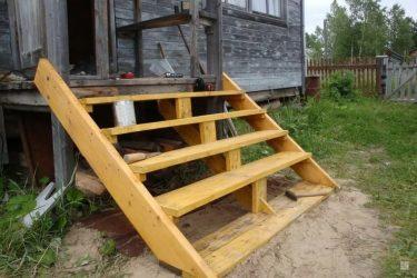 Лестница для крыльца своими руками из дерева