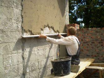 Пеноблок можно штукатурить цементным раствором купить резиновую краску для бетона в брянске