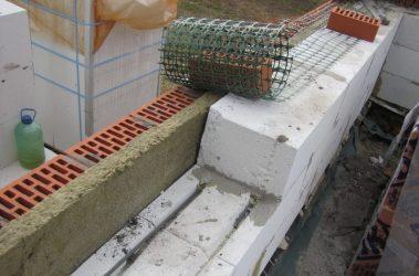 Армирование пеноблоков сеткой
