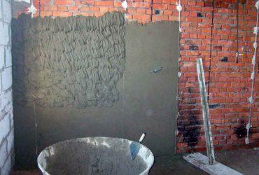 Как штукатурить кирпичную стену цементным раствором на улице как правильно замешивать цементный раствор в бетономешалке