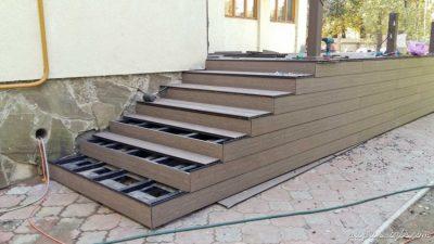 Лестница из террасной доски своими руками
