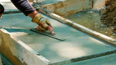 Заливка бетона частями